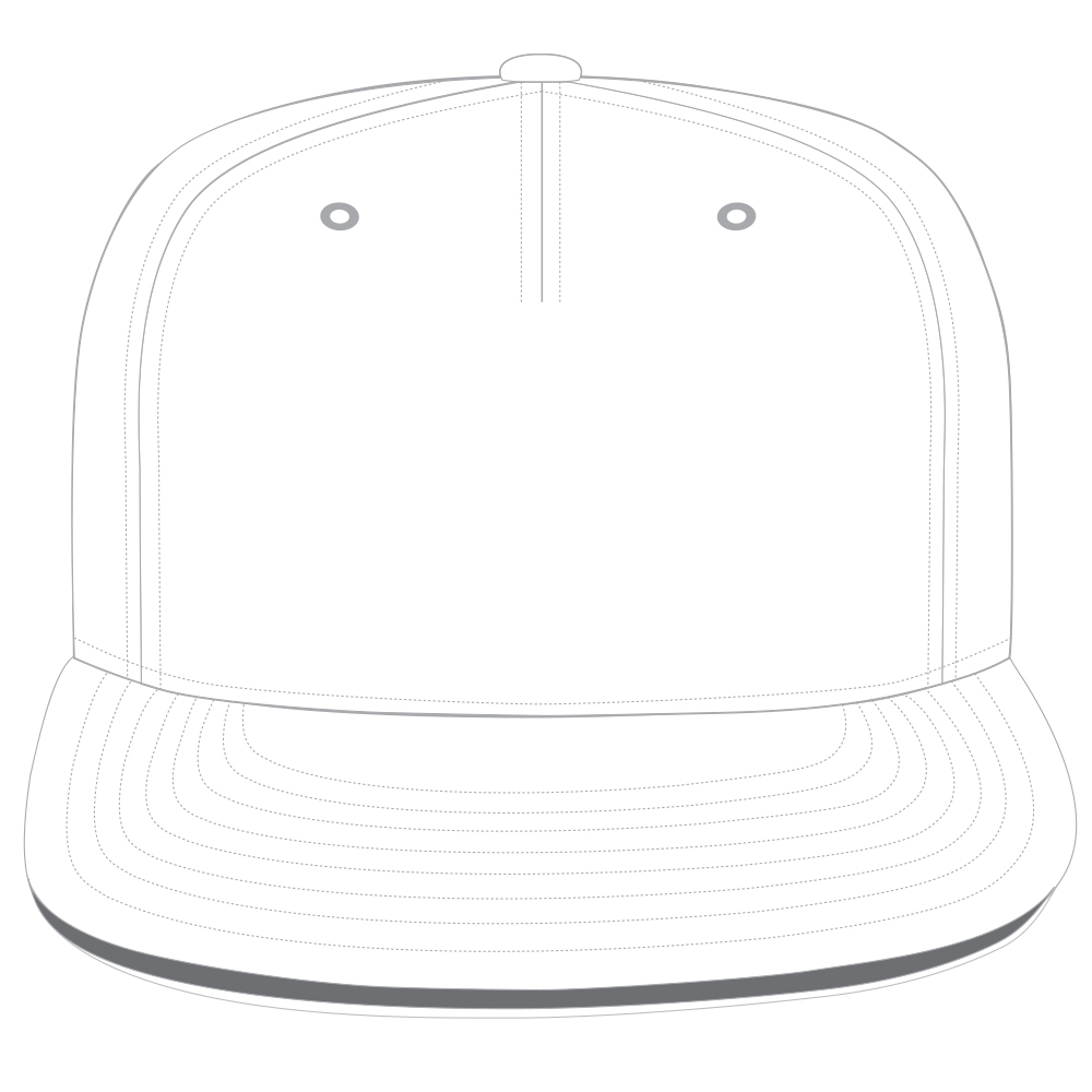 Snapback Templates - 5-panel snapback Cap