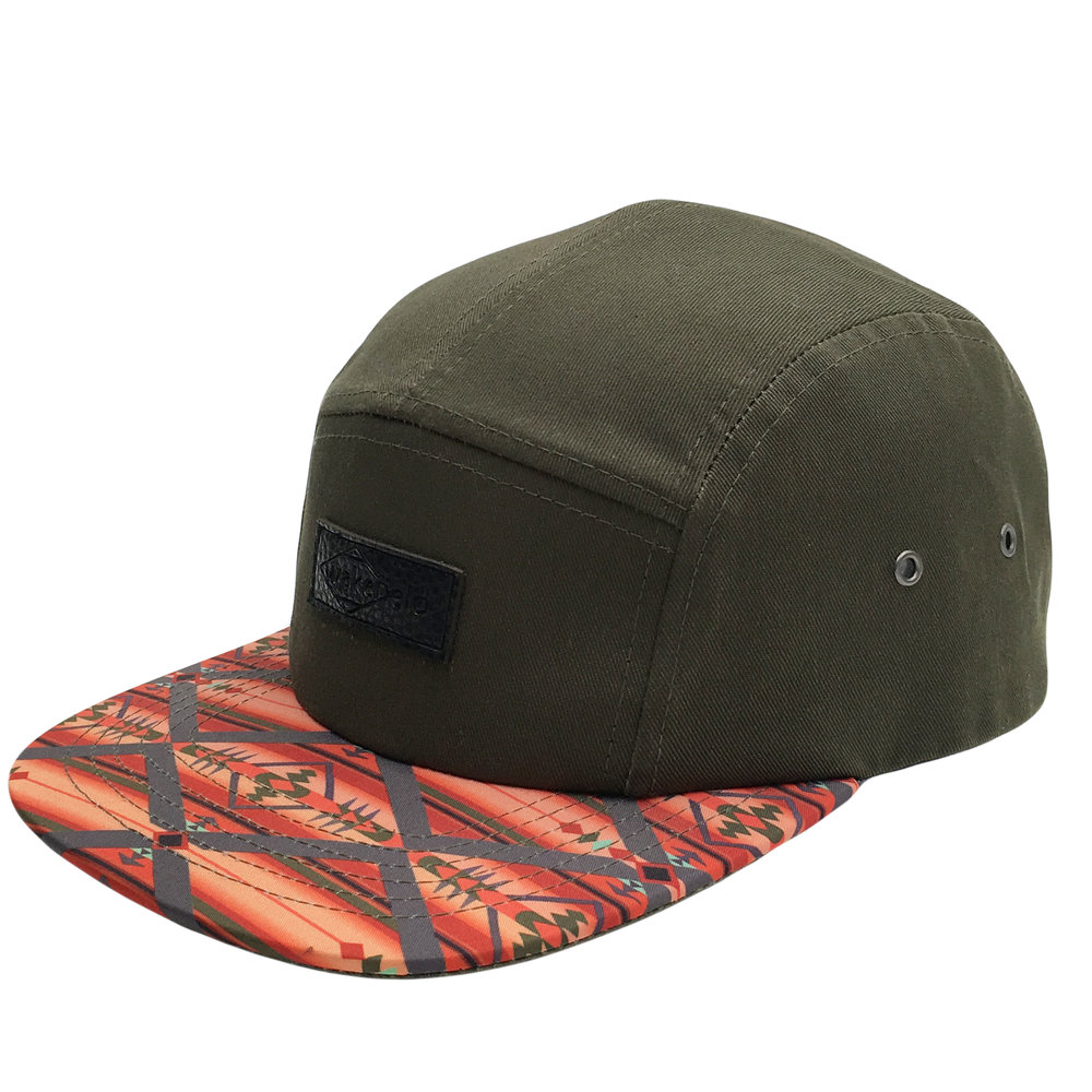 Custom PV leather Patch Camp Hat