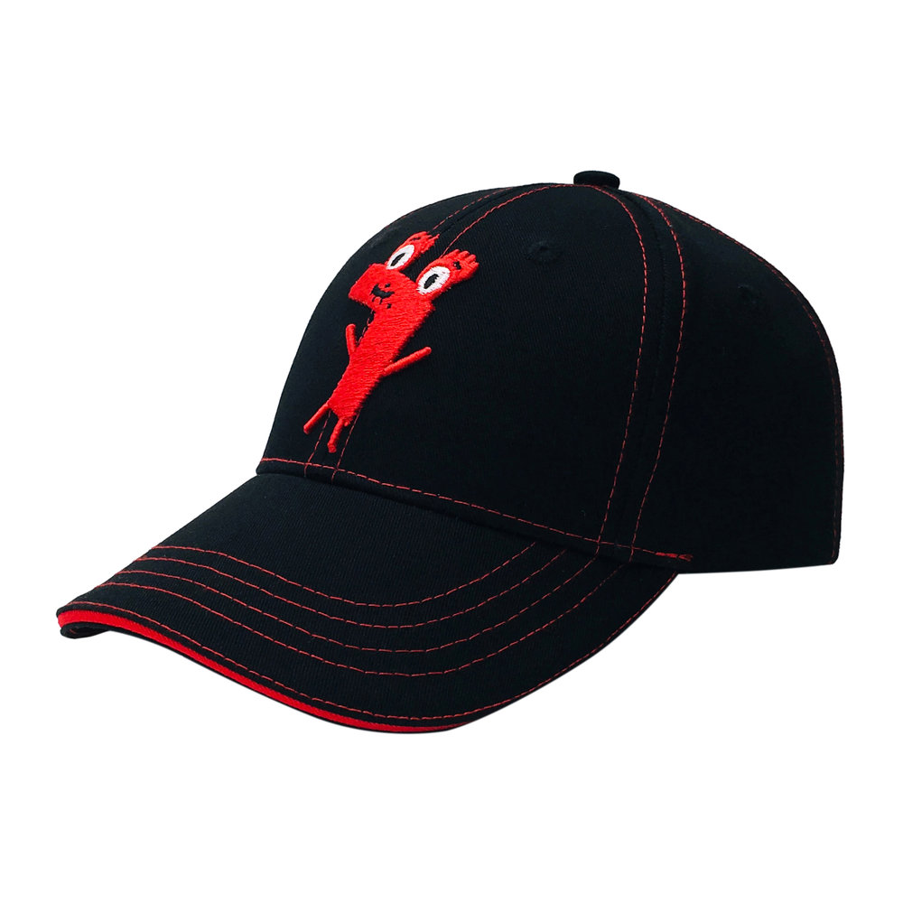 Custom 3D Embroidery Cartoon 6 Panel Baseball Cap