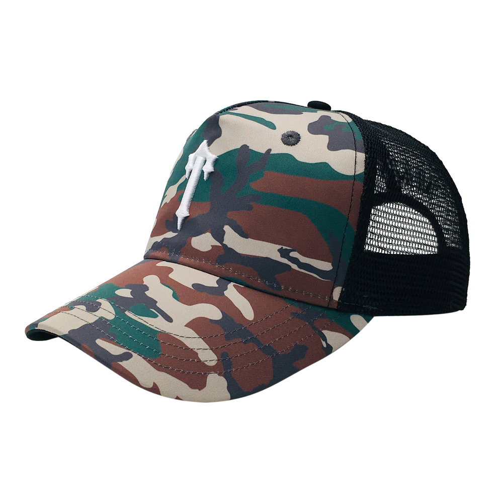 Custom Fashion Branded Design 5 Panel Trucker Cap