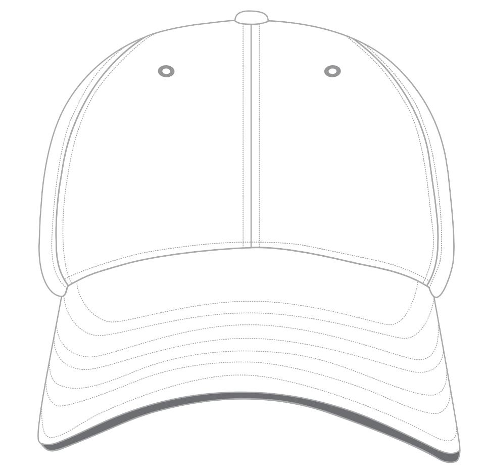 Baseball Cap Templates - 6-Panel baseball cap snapback