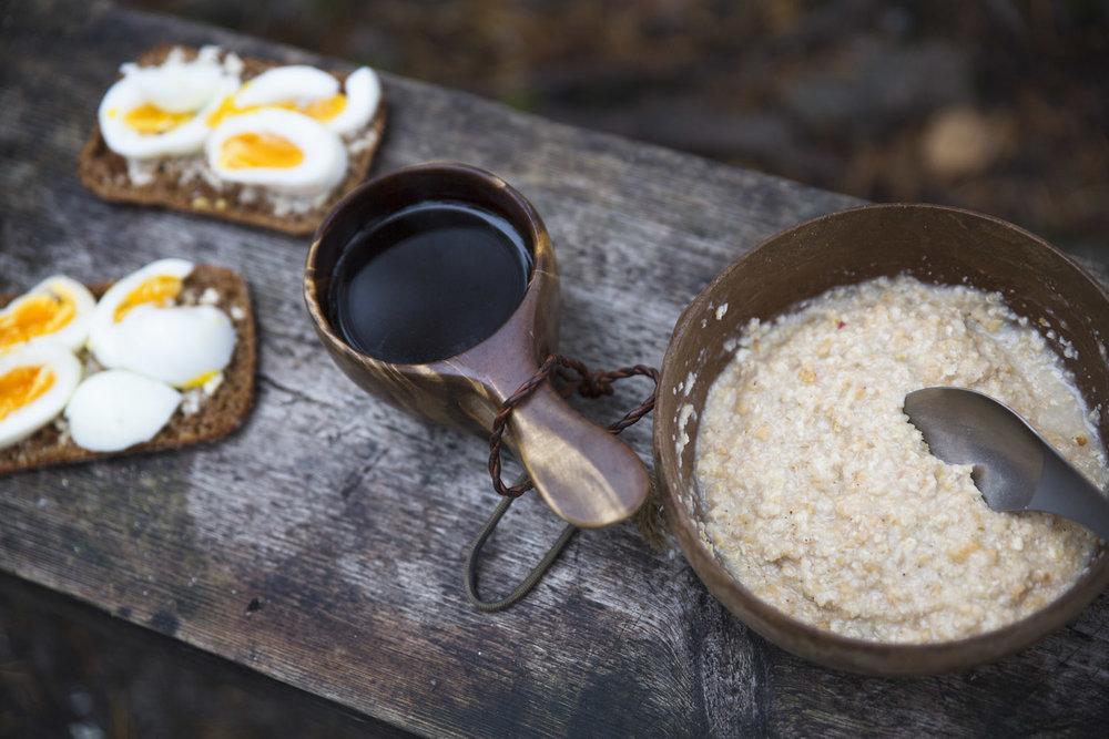 breakfast in woods