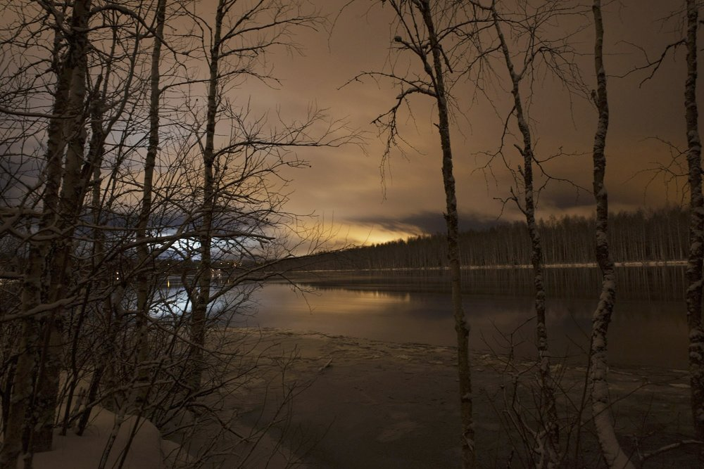 night landscape finland