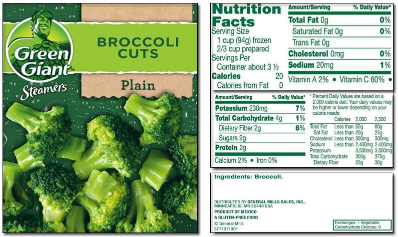 Broccoli label #1