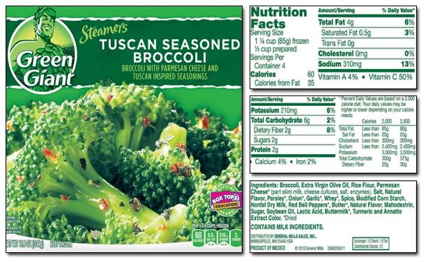 Broccoli label #2