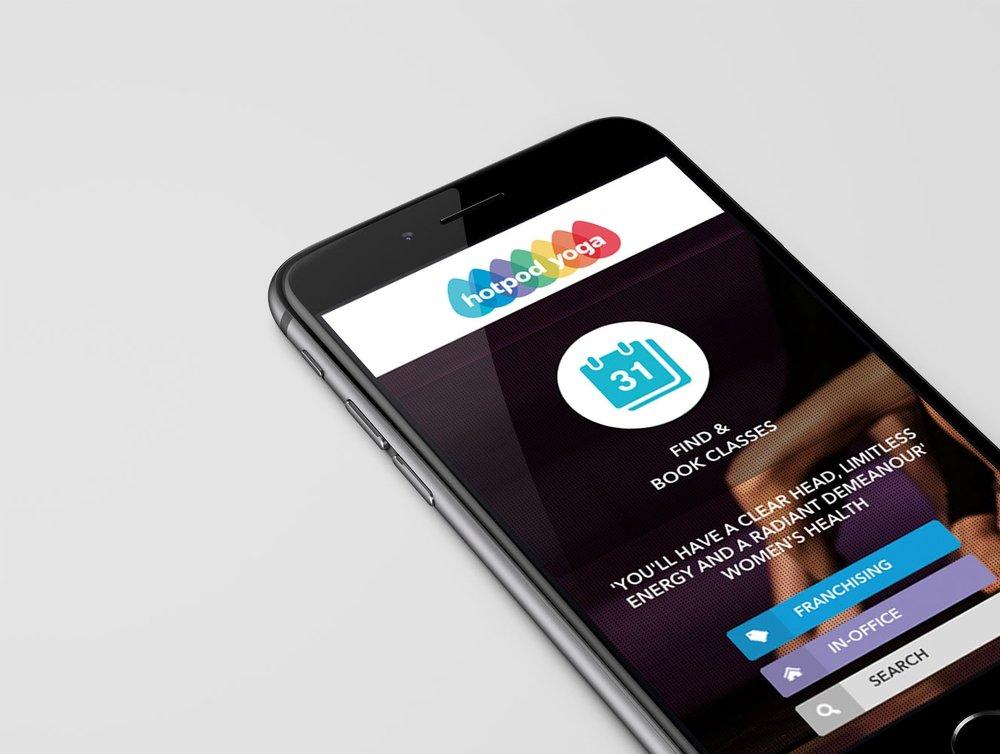 hotpod-yoga-mobile-website