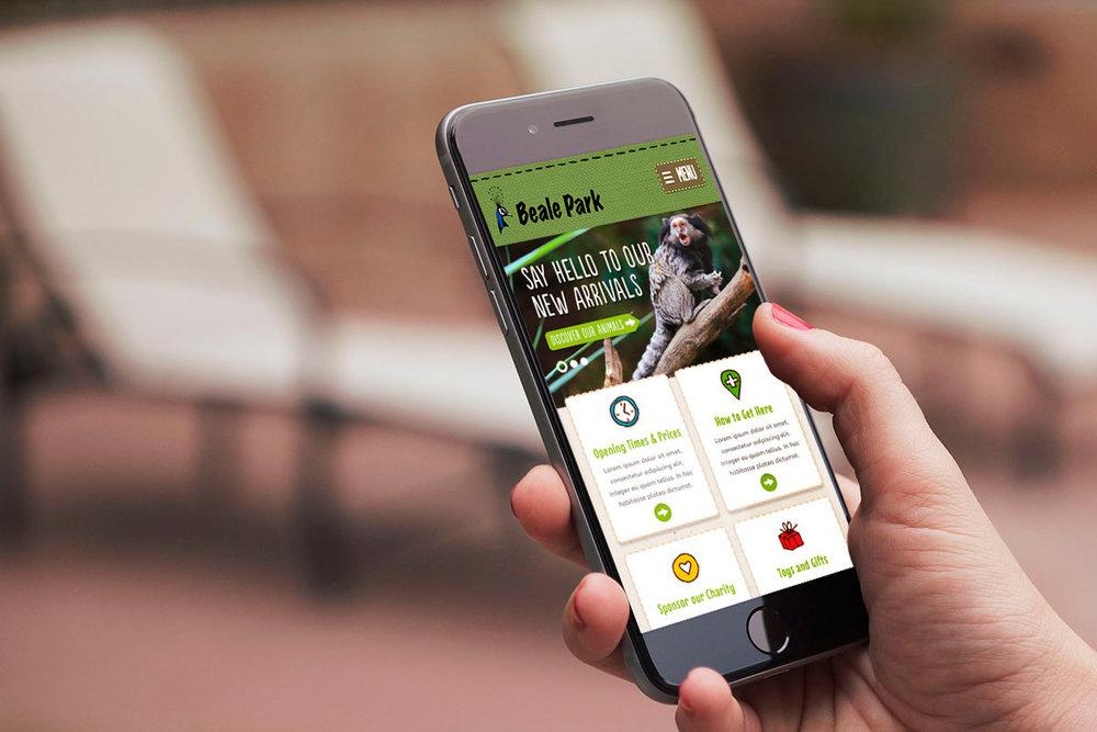 beale-park-mobile-website