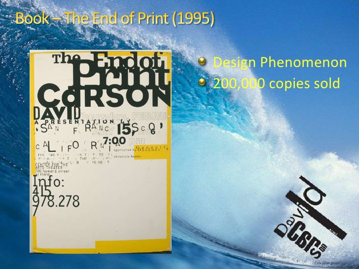 "Ironic how a book called ""The End of Print"" sold 200,000 copies..."
