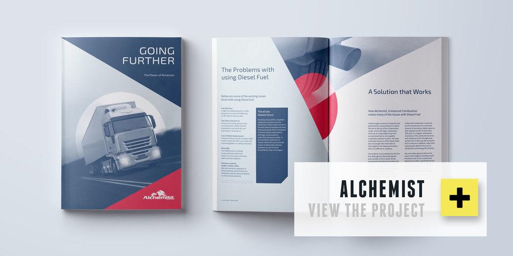 Alchemist - branding, print, web & exhibition