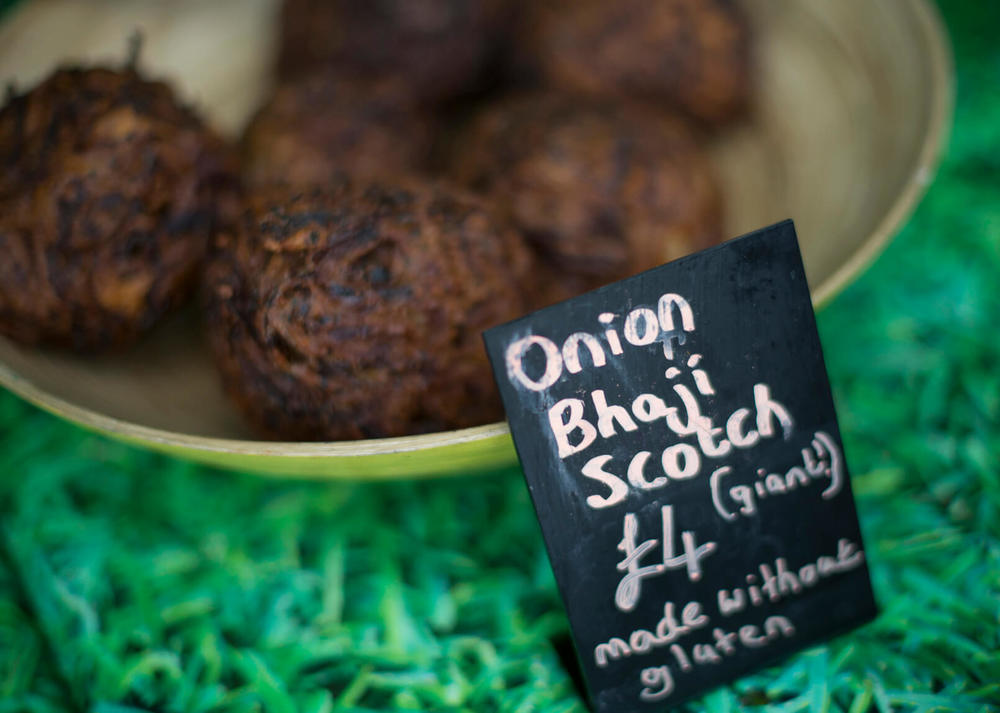 Large Onion Bhaji Scotch Eggs!