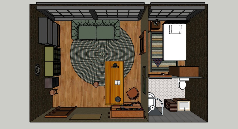 Detective Office - Sketchup Models