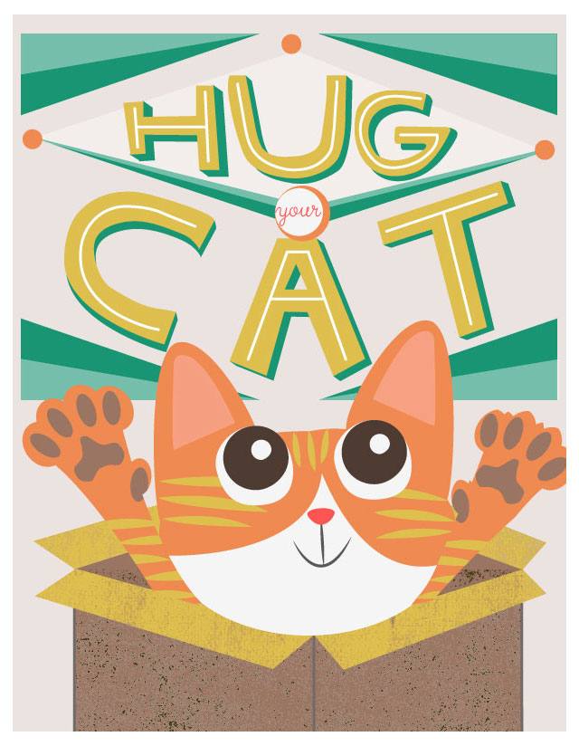 Hug Your Cat illo