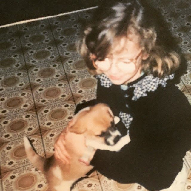 Beth Spencer with first puppy