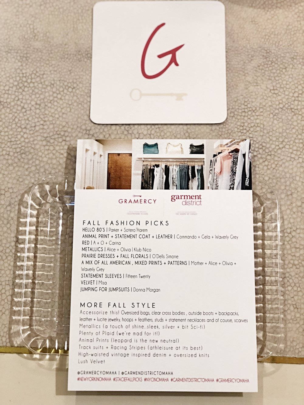 Gramercy + Garment District Fall Fashion Show  | Omaha | Private Influencer Event
