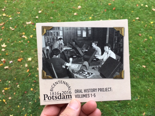 The cover of the Potsdam Oral History Project CD