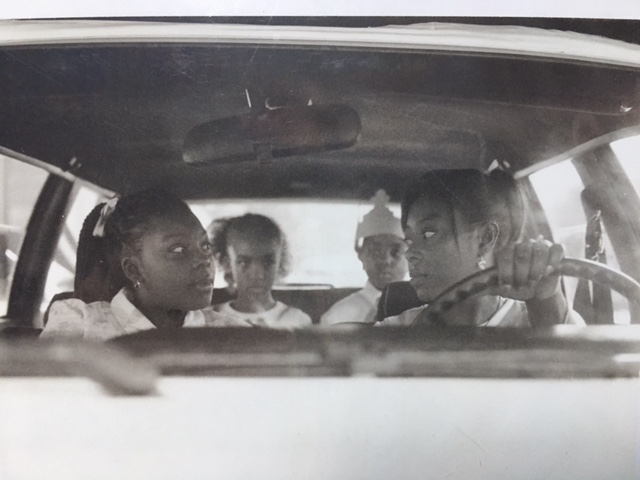"""Lily and the kids"" in the car.  (L-R Meghan Oglesby, Felicia Muse, Chase Oglesby, Tristan Esby)"