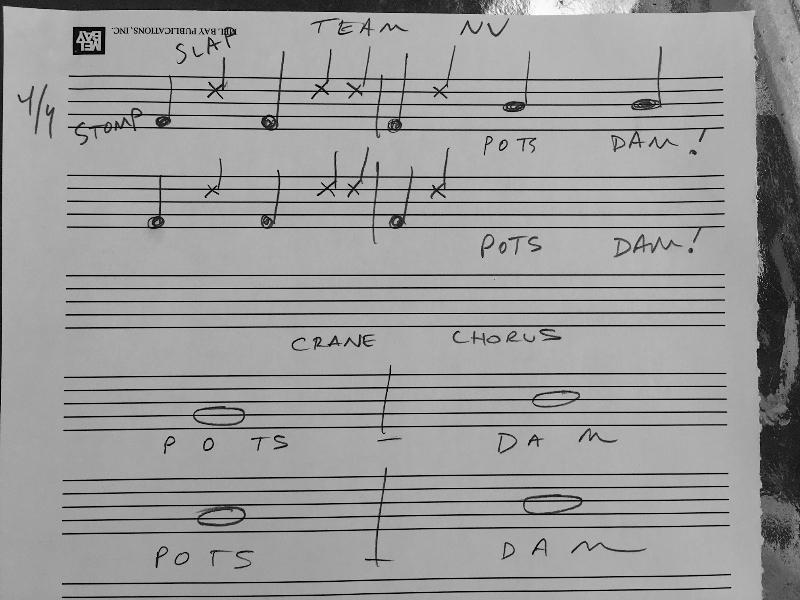I do make music but rarely do I need to communicate in THIS way.  Glad that Dr. Francom resisted making fun of my chicken scratch hack notation.