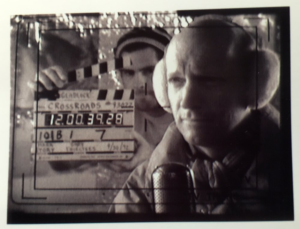 Video printout from VTR master Samy Gino (sp.?).  That's me with the clapper.  Below, the piece we were shooting.