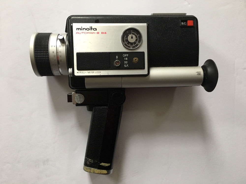 I still have the super 8 camera I shot this on.  Brad Richards, a buddy from Michigan, gave it to me or I'm sure sold it to me extra cheap.  Brad was cool that way.  Thanks Brad