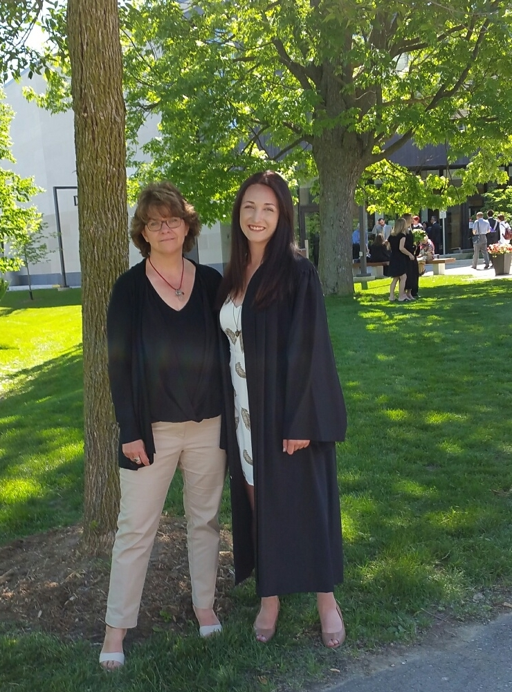 Darby Anderson with her daughter, Olivia, at her graduation from Western University in 2016.