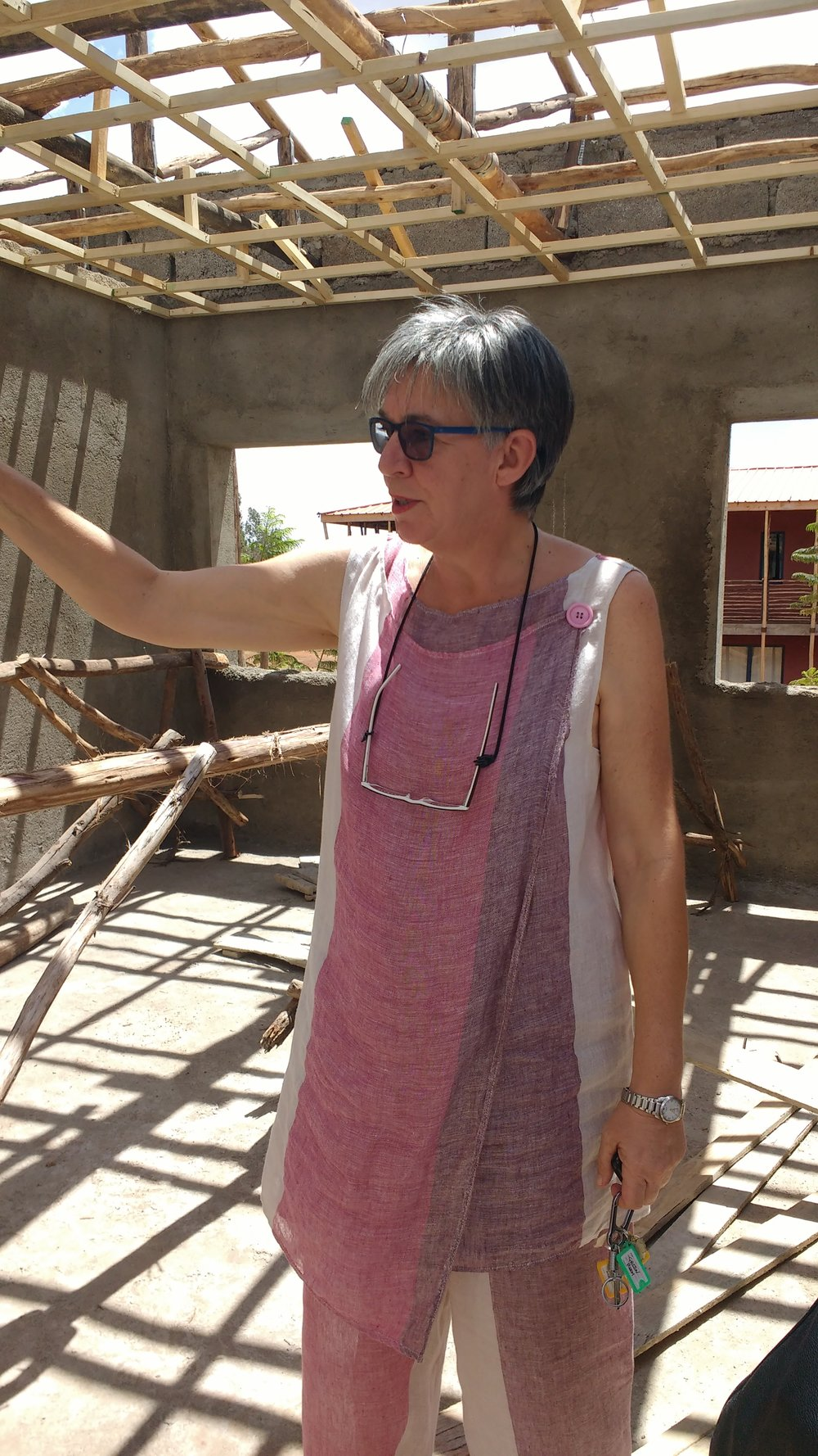 Marcella showed the MWAHFE team around a new space that's under renovation on the Busajo grounds. The team hopes to house and rehabilitate vulnerable women.