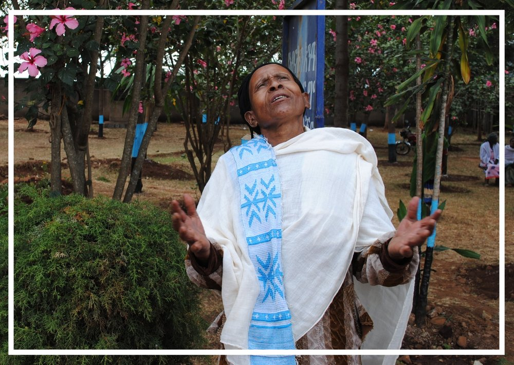 When she spoke about her surgery to correct a prolapsed uterus, Turngo raised her arms and thanked God. Religion is a huge part of life in Ethiopia, and all of the women we spoke with told us of desperately praying for God to take away the pain and shame of the condition.