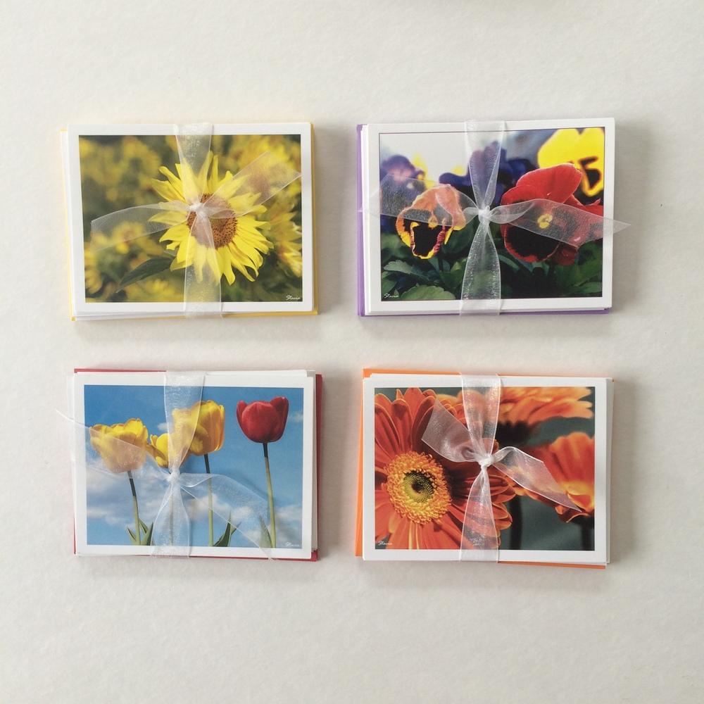 Floral Ribbon Notes