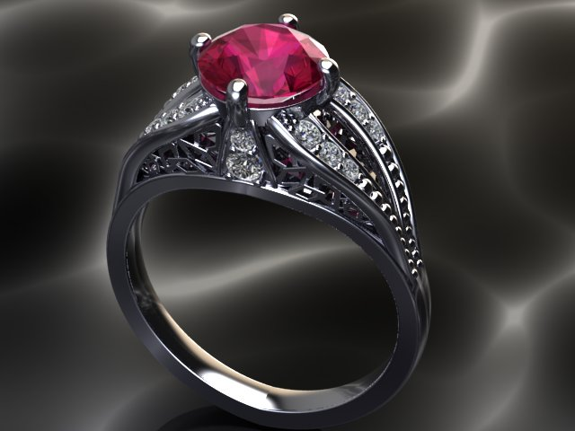 A new look from Grandmother's ring using the client's old ruby