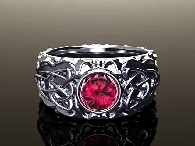 Medieval ruby ring