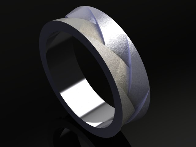 modern braid wedding band