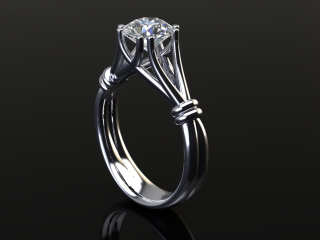 Modern diamond engagement ring