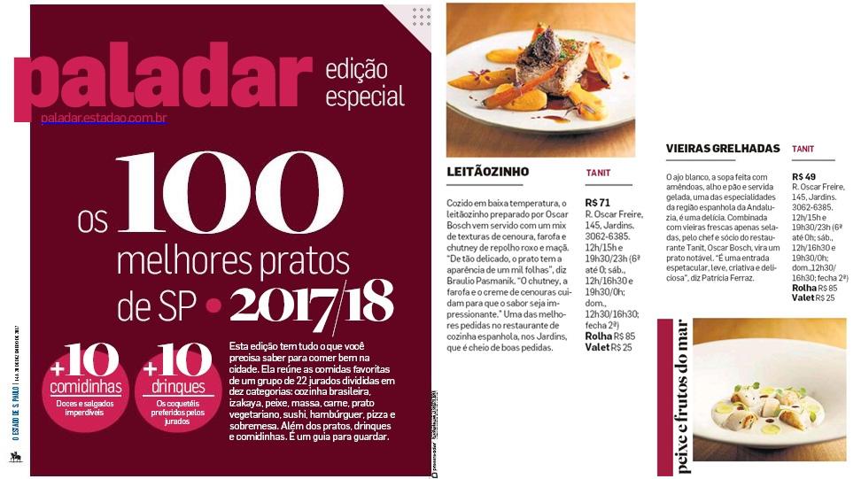 Paladar - 100 melhores pratos - 2017/2018