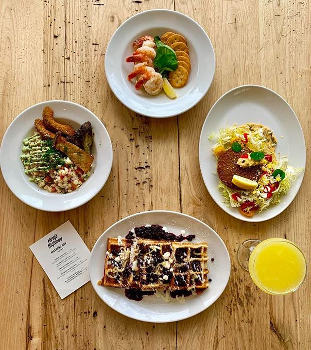 We're celebrating all mothers and mother figures this year with a lineup of brunch specials including a Shrimp Cocktail, Blueberry Waffle, Smokey Crab Cake or Roasted Mushrooms.