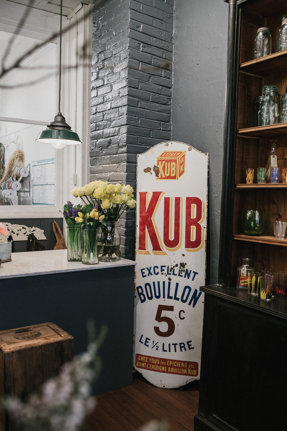 French enamel epicerie sgin for kub bouillon (circa 1900)