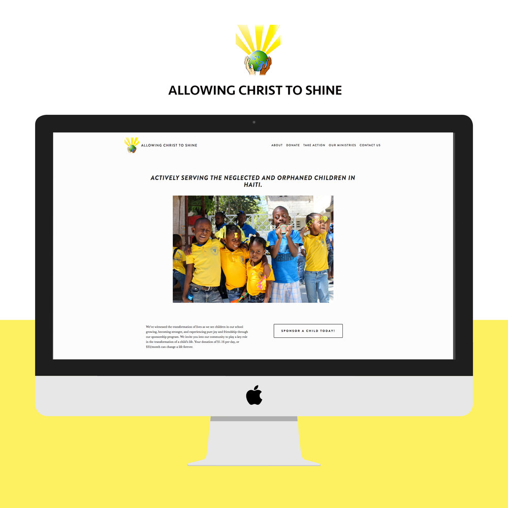Allowing Christ to Shine | iMac Website Home Page