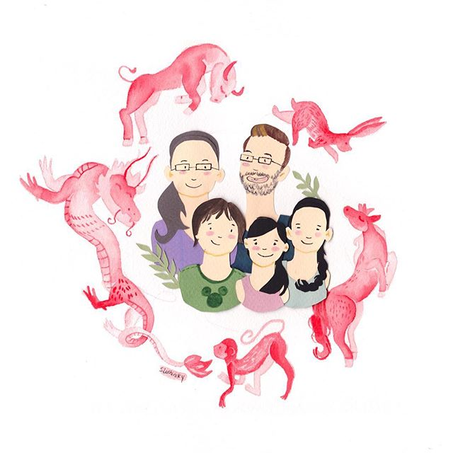 I love this piece @jmartzall commissioned for his family's Christmas gift. He wanted to celebrate the Chinese heritage in his family, so we incorporated each family members' zodiac sign in red, a color of good luck and happiness. Thank you, John!