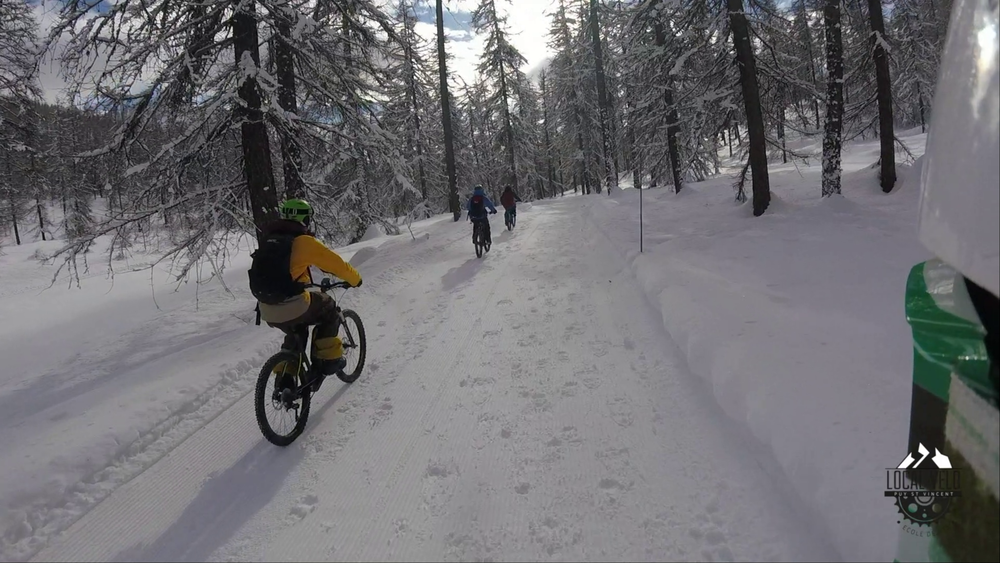 VTT sur neige en Vallouise