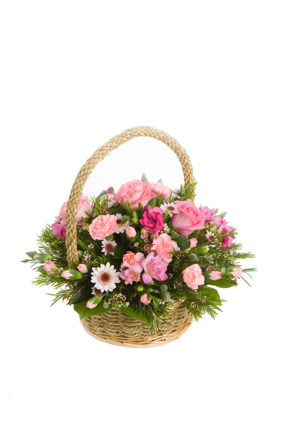 Mothers day worle florists free local delivery in the weston in the pink flower basket izmirmasajfo