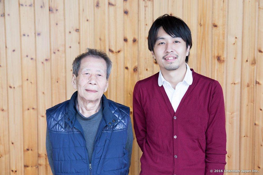 温泉部長の今村進さんと御自宅の前で撮影
