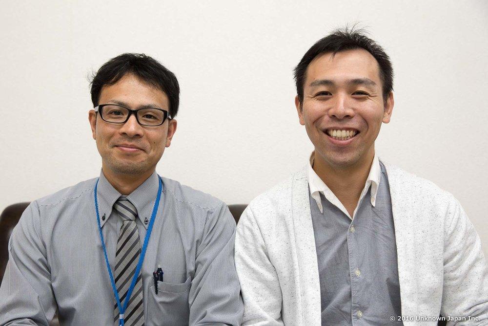 管理をされている姫島村役場の山下春樹さんと役場会議室で撮影