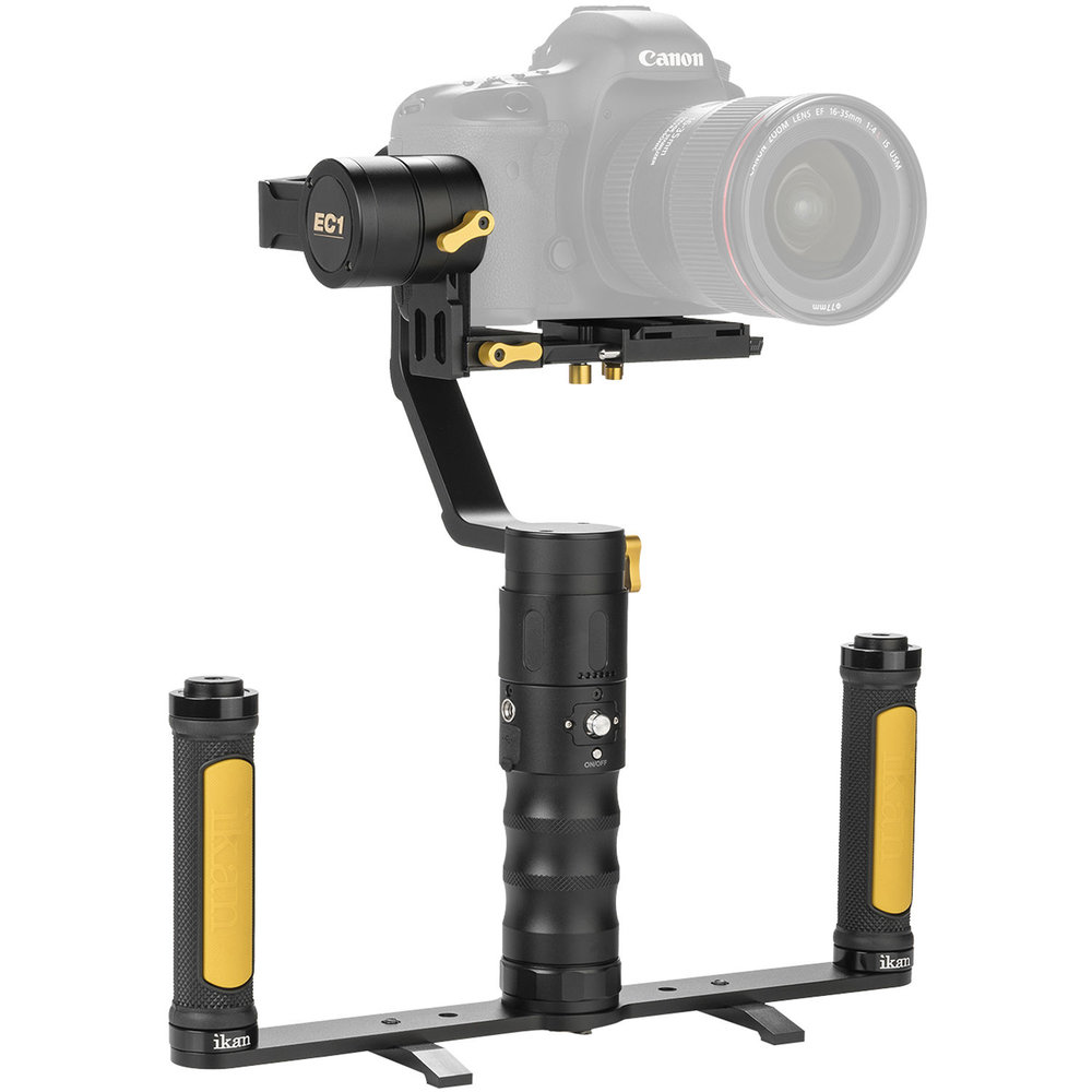 Ikan   Gimbal with dual grip handles for DSLR cameras  Find it in: The 6th Floor Hub