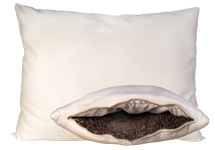 Wool-Wrapped Buckwheat-Hull Pillow