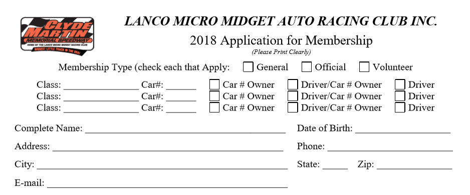 Click the image to download the full fill-in membership application form. Works best with Adobe PDF. See below for a link to non-fill-in membership application.