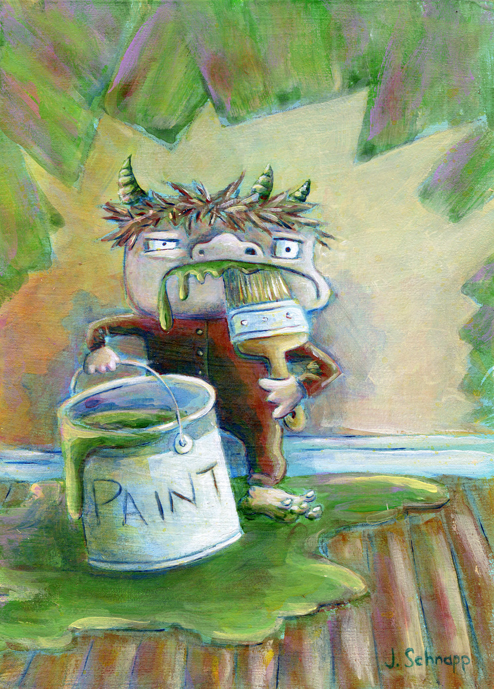 Paint Monster #2 by Jonathan Schnapp