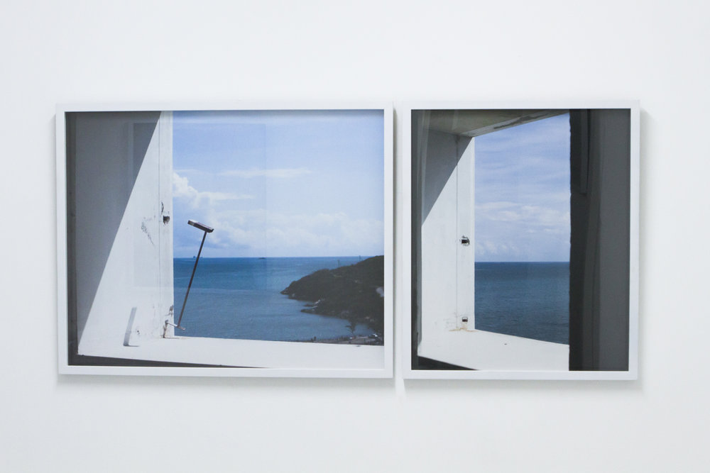 "Window II (Diptych), 2016. Installation View, ""FORUM"" at NLS Kingston - Kingston, Jamaica.   Photographic C-Print on Kodak Endura Paper –   24x 36, 24x19 in."