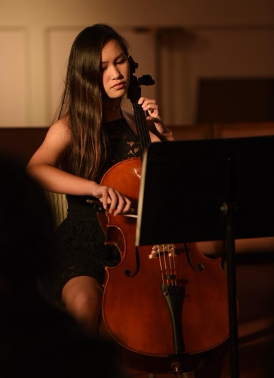 Allyson at the New Mozart Winter Student Recital on Dec. 3, 2017.