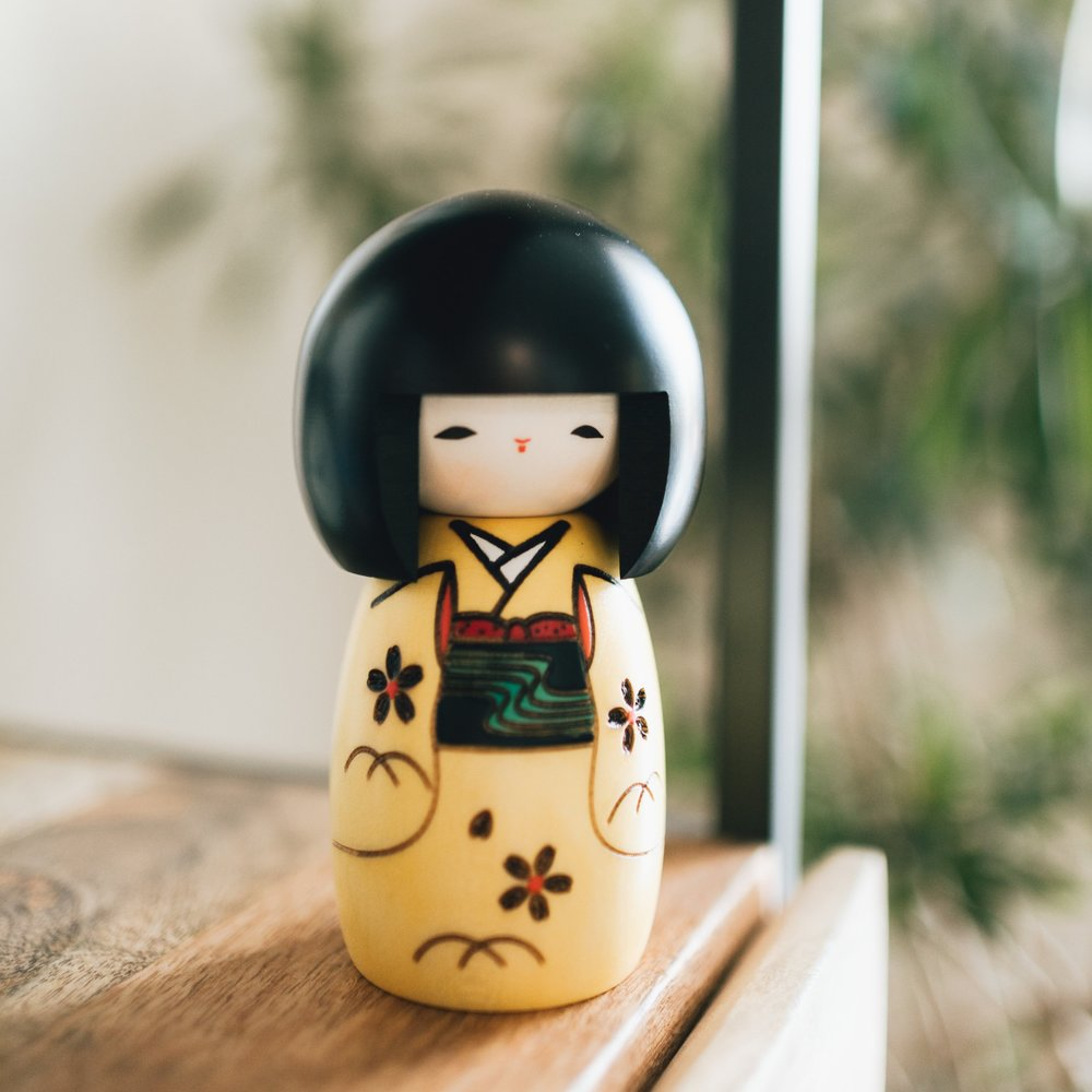 Our cute little Kokeshi doll that we found in one of the shops!