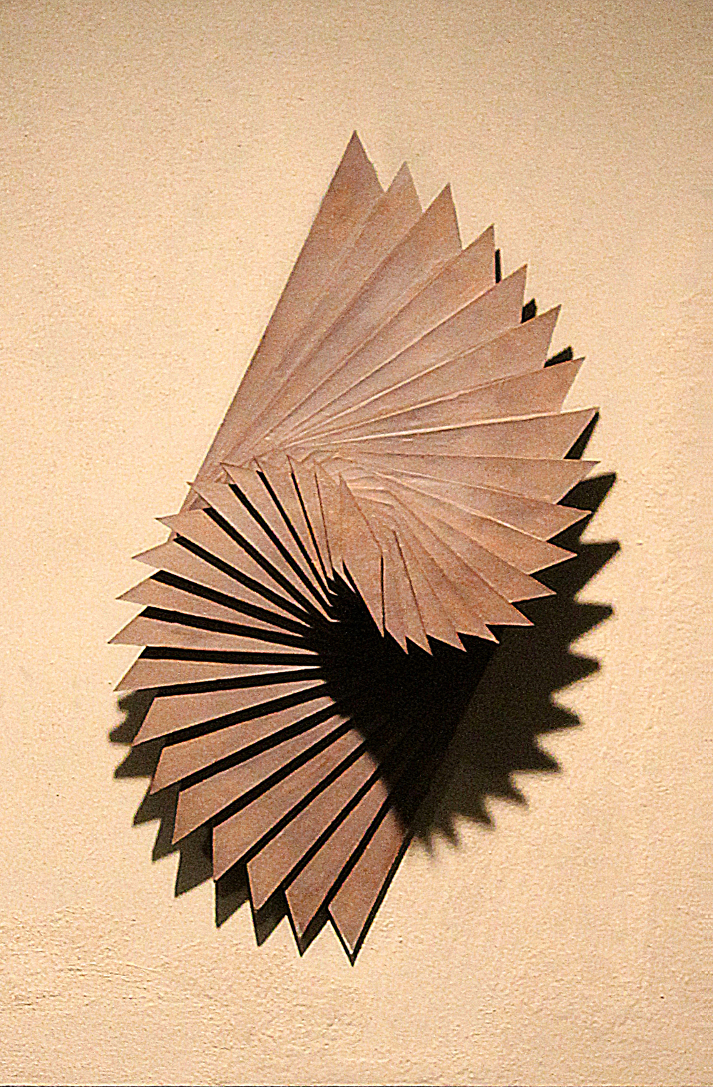 Harmonic Geometry IV  |  20 x 8 x 9 inches  | Stoneware, Stained birch, Sand  |  2015