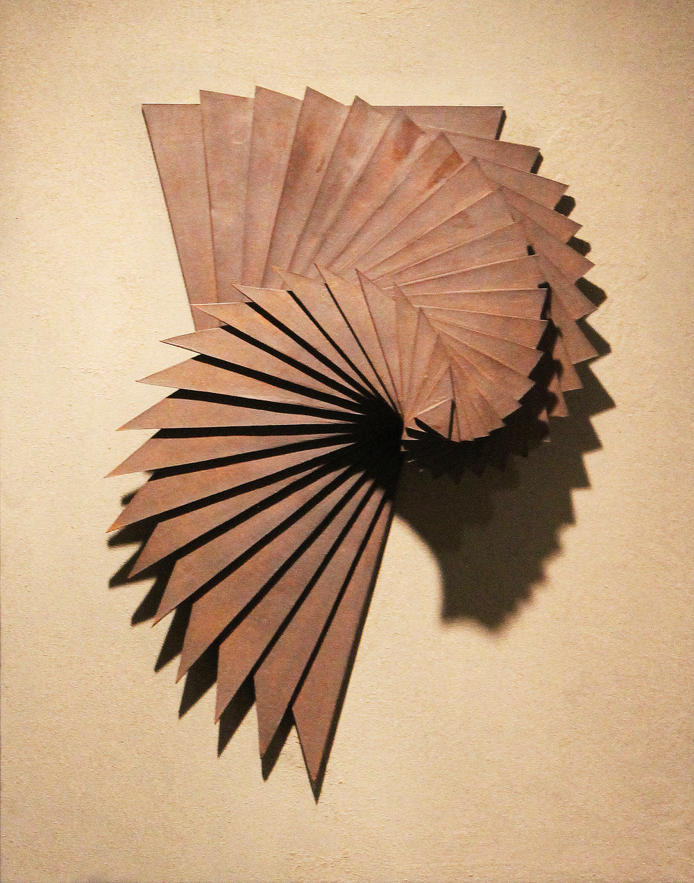 Harmonic Geometry II  |  22 x 12 x 9 inches  | Stoneware, Stained birch, Sand  |  2015