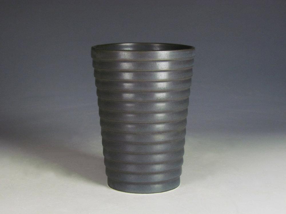 Tumbler (Black)  |  7 x 3 x 3 inches  |  Porcelain, Glaze  |  2016